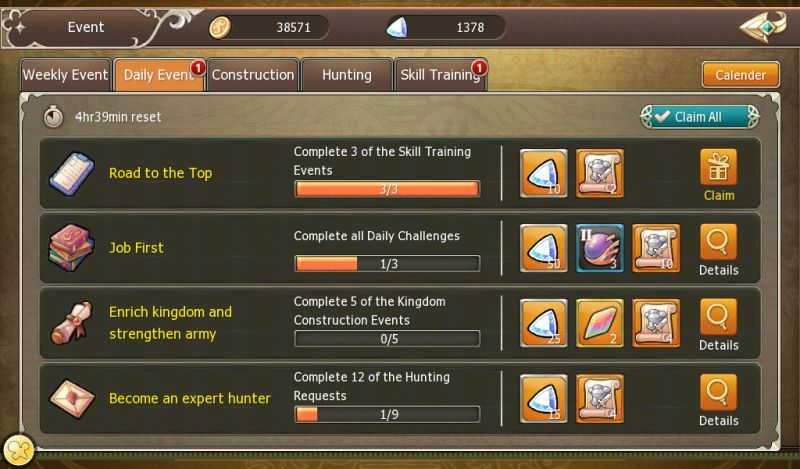 crown four kingdoms daily tasks