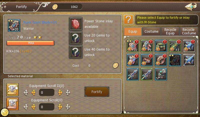 crown four kingdoms equipment