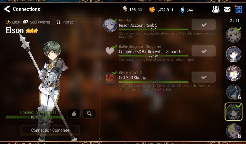 epic seven character development