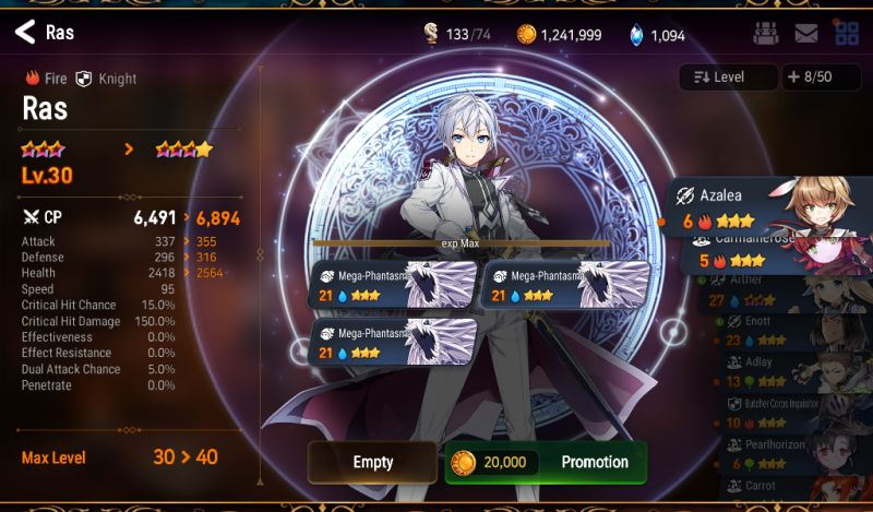 how to upgrade your heroes in epic seven
