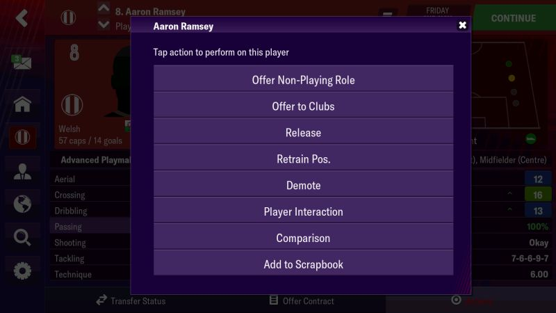 football manager 2019 mobile player management