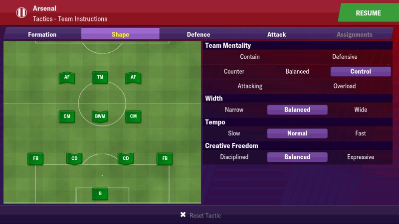 football manager 2019 mobile tactics