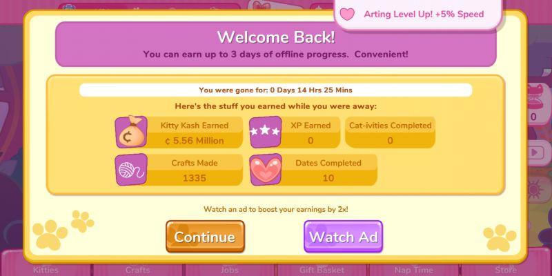 kitty catsanova offline rewards