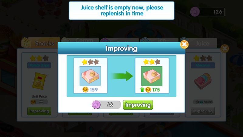 how to improve items in my supermarket story