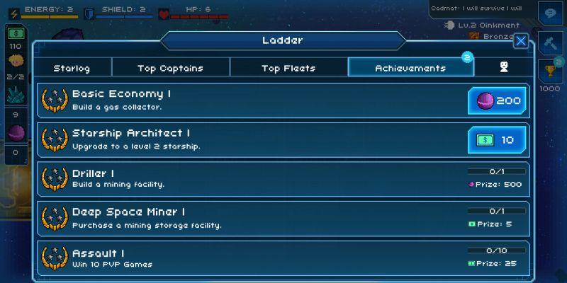 pixel starships achievements