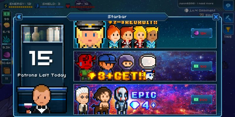 how to recruit better crew members in pixel starships