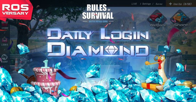 rules of survival free diamonds