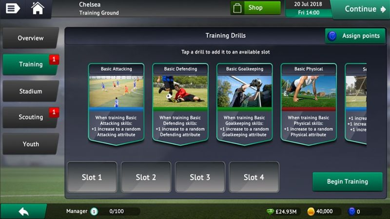 how to train players in soccer manager 2019