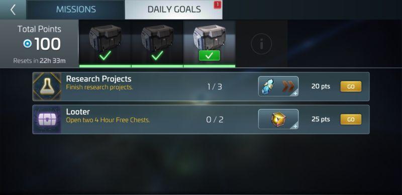 star trek fleet command daily goals