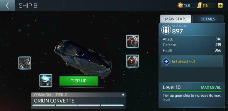 how to upgrade ships in star trek fleet command