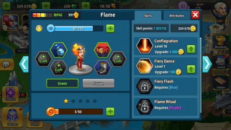 battle arena heroes adventure skills