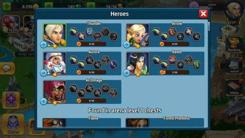 battle arena heroes adventure tips