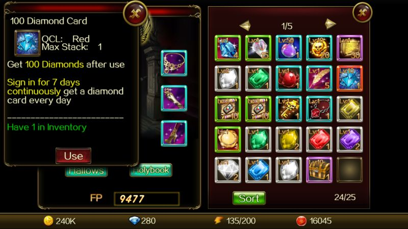 dragon of throne inventory