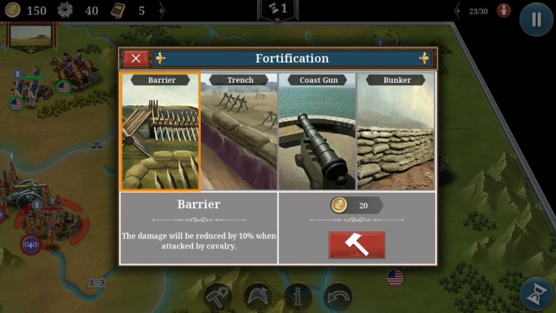 european war 6: 1804 fortification