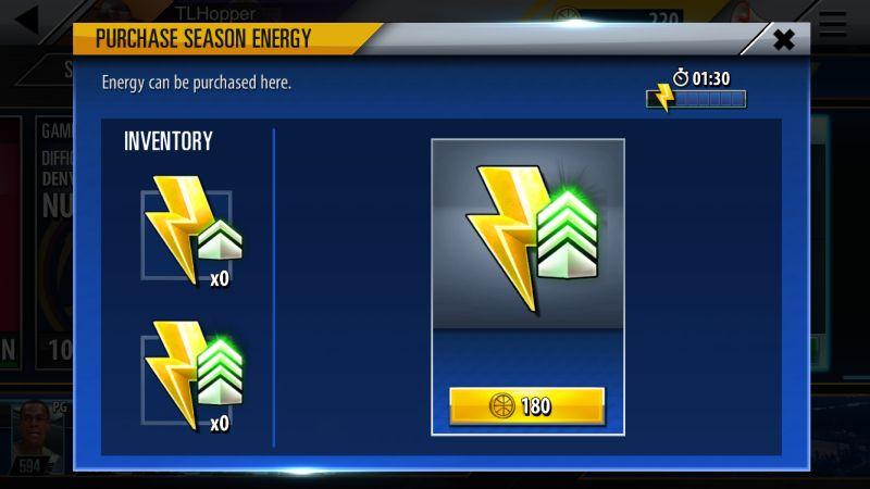 nba 2k mobile energy