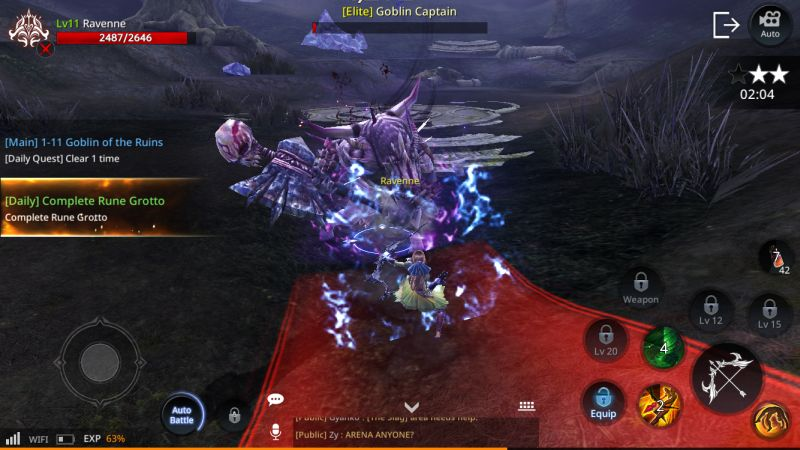 axe alliance vs empire auto battle