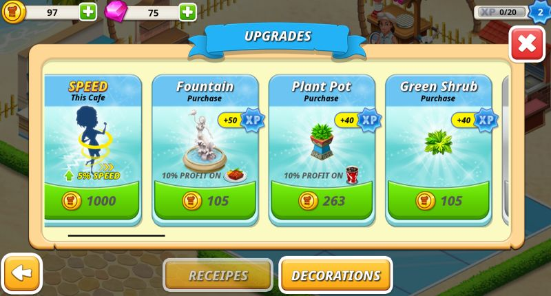 cafe tycoon strategies