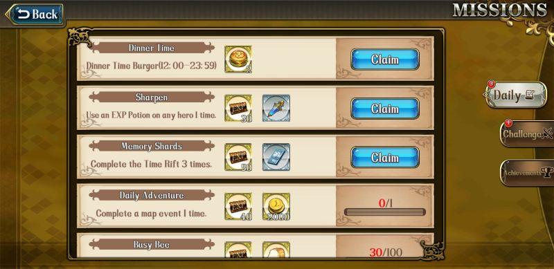 langrisser mobile events