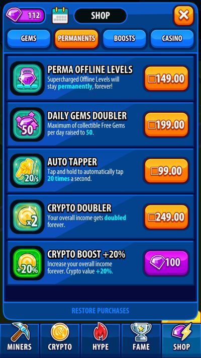 crypto trillionaire unlimited gems