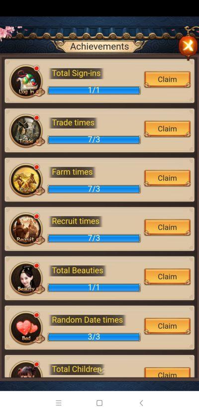 emperor and beauties achievements