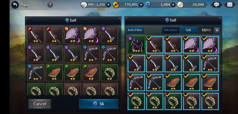 final blade inventory