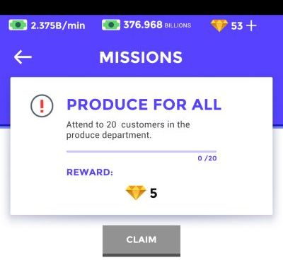 idle supermarket tycoon missions