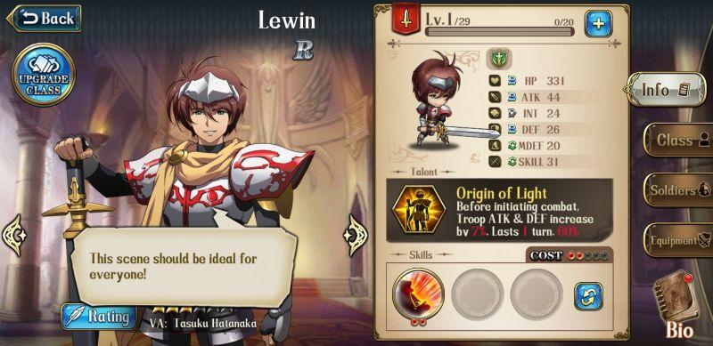langrisser mobile best r heroes lewin