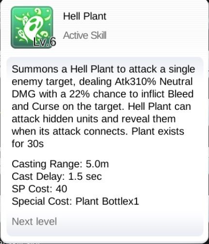 ragnarok m eternal love hell plant