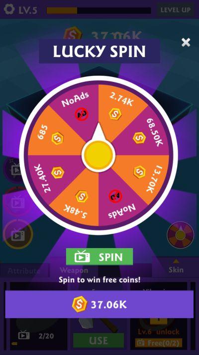 weeder match lucky spin