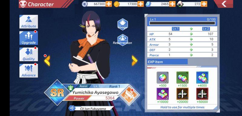 bleach mobile 3d character