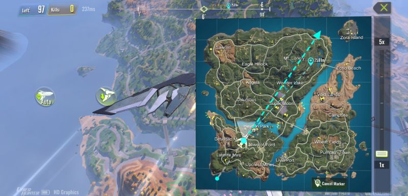 cyber hunter map