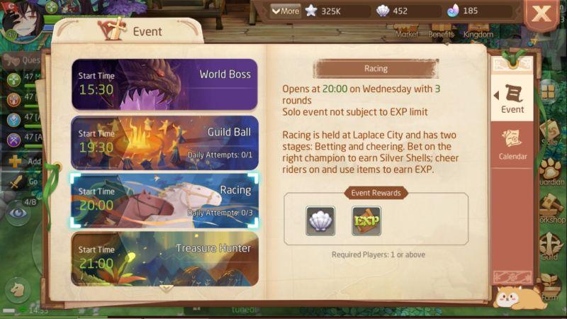 laplace m limited events list