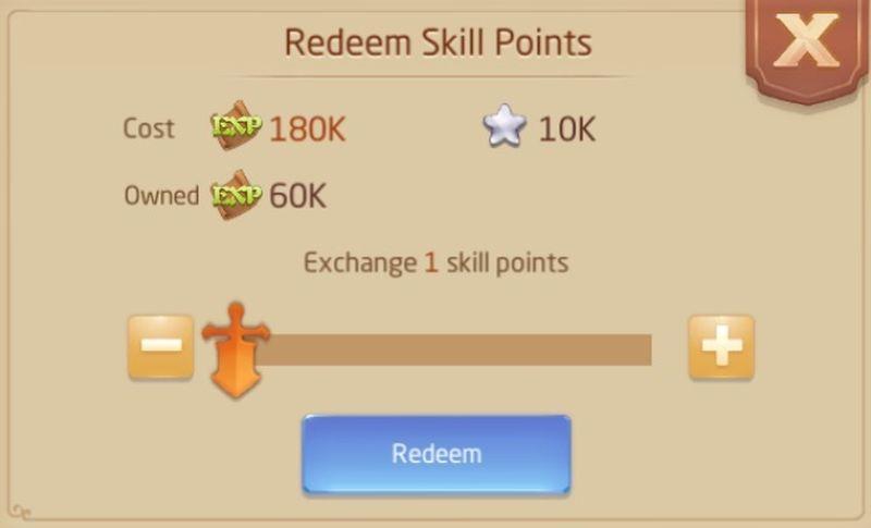 laplace m redeem skill points