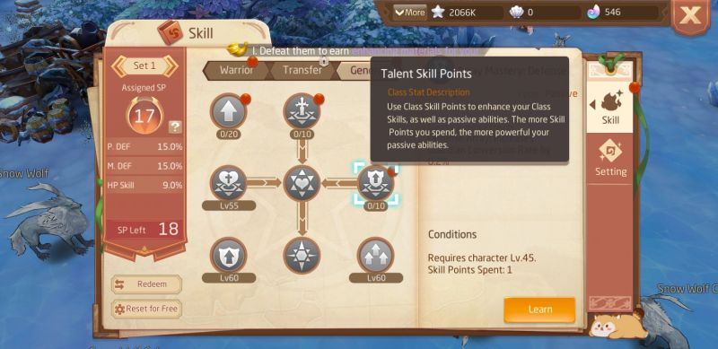 how to reset skill points in laplace m