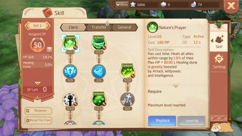 laplace m skill points