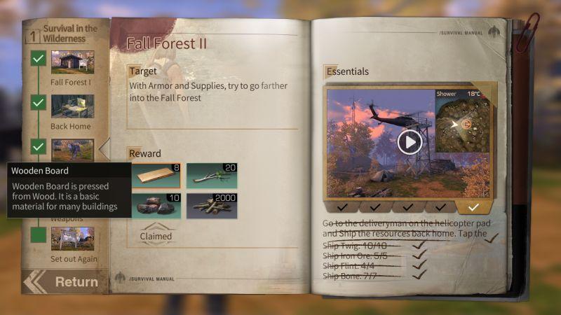 lifeafter walkthrough chapter 1 fall forest II