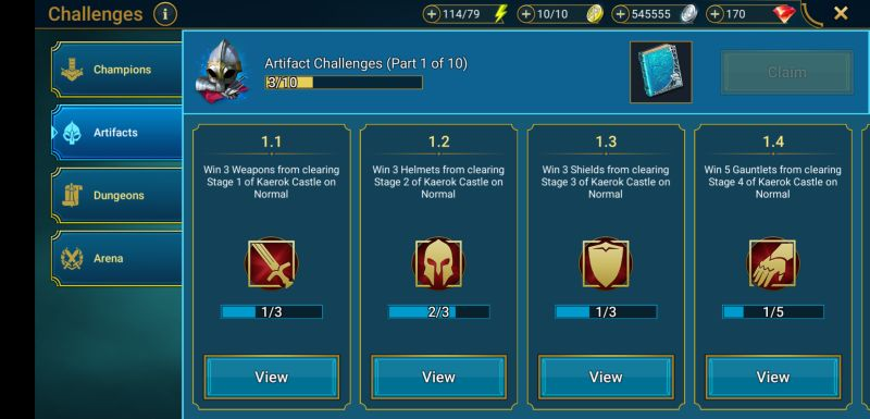 raid shadow legends challenges