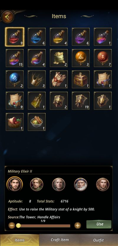 the royal affairs items