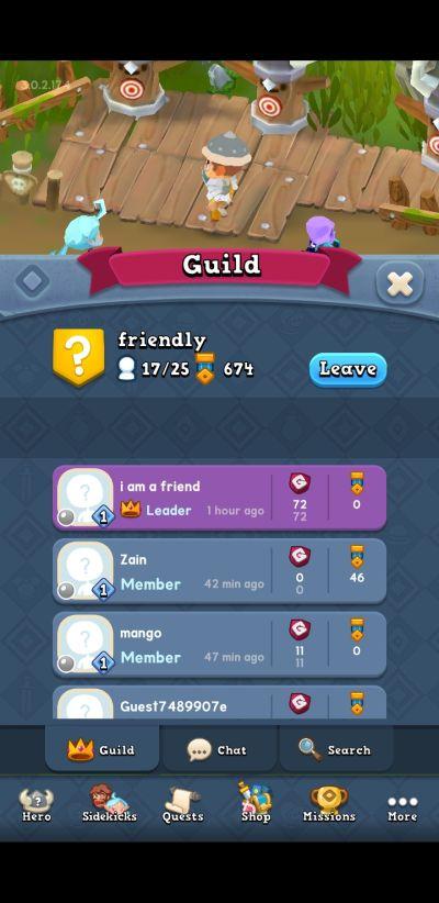 world of legends guild
