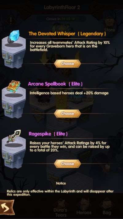 afk arena relics