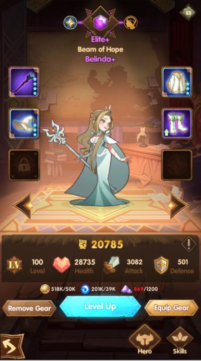 how to upgrade your heroes in afk arena