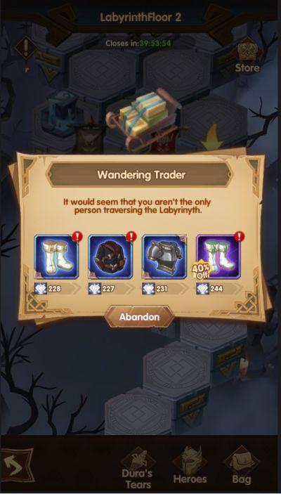 afk arena wandering trader