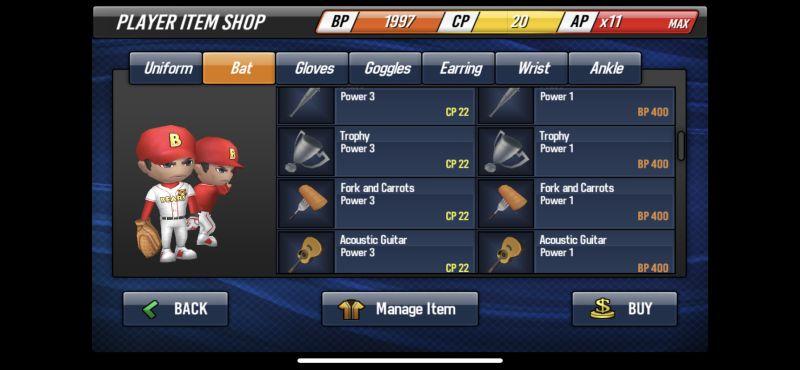 baseball star item shop