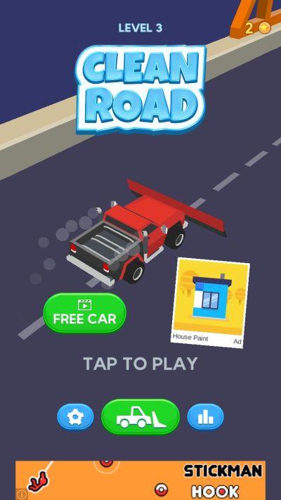 clean road free car