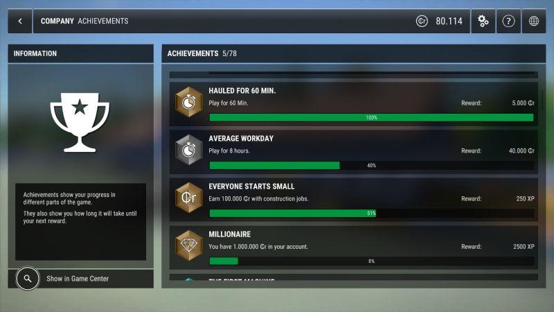 construction simulator 3 achievements