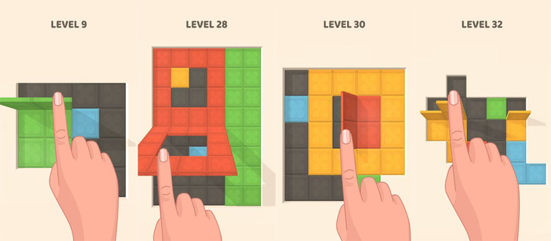 folding blocks cheats