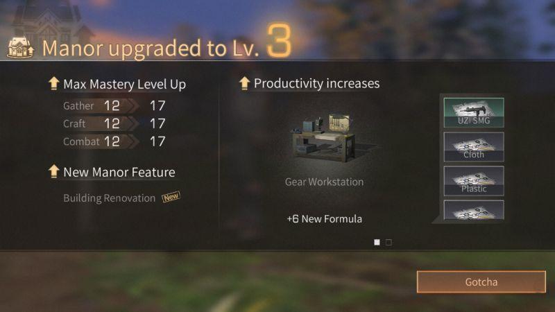 lifeafter manor upgrade