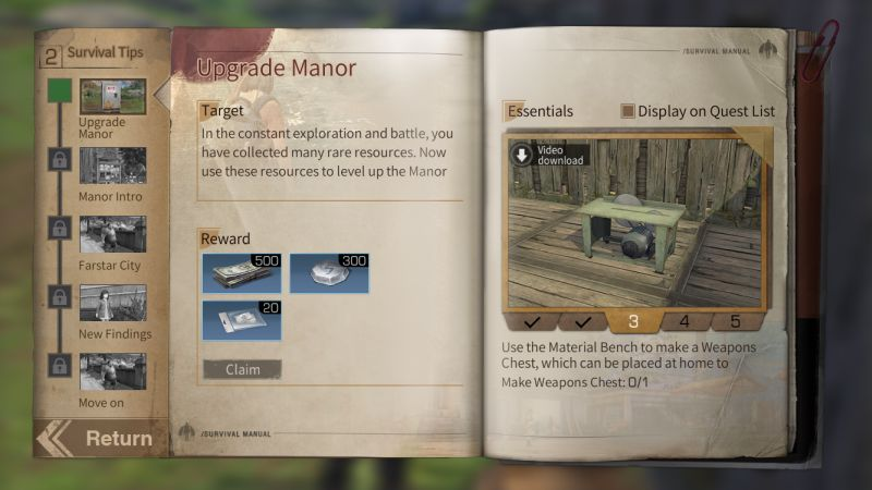 lifeafter walkthrough chapter 2 upgrade manor