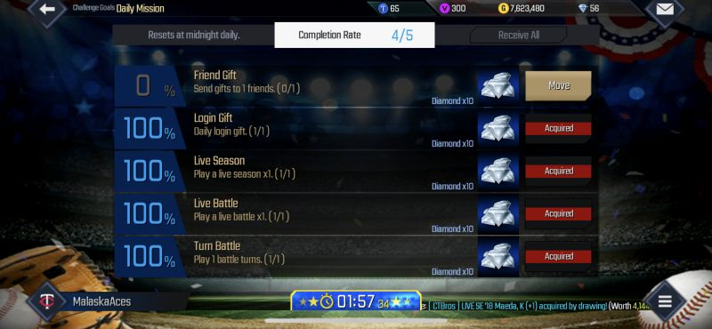mlb perfect inning 2019 daily mission