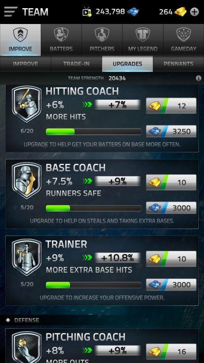mlb tap sports baseball 2019 team upgrade